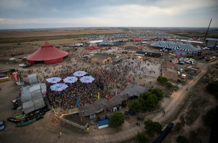 Monegros Desert Festival view